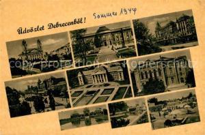 AK / Ansichtskarte Debrecen_Debrezin Teilansichten Sehenswuerdigkeiten der Stadt Debrecen Debrezin