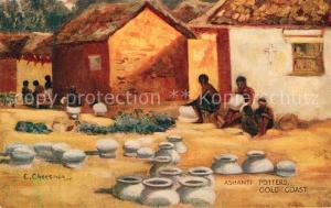AK / Ansichtskarte Verlag_Tucks_Oilette_Nr. Ashanti Potters Gold Coast E. Cheesman