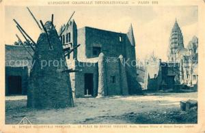 AK / Ansichtskarte Exposition_Coloniale_Internationale_Paris_1931 Afrique Occidentale Francaise Place du Marche Indigene