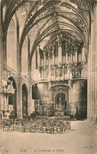 AK / Ansichtskarte Kirchenorgel Albi Cathedrale
