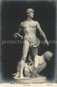AK / Ansichtskarte Skulpturen L Age de Fer Alfred Lauson