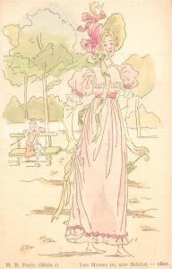 AK / Ansichtskarte Mode Les Modes du XIXe Siecle 1801