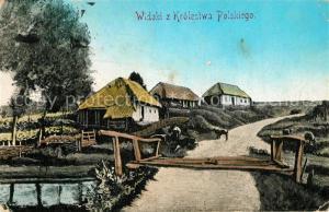 AK / Ansichtskarte Bauernhaus Widoki z Krolestwa Polskiego
