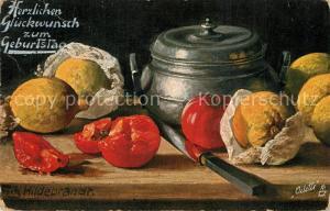 AK / Ansichtskarte Verlag_Tucks_Oilette_Nr. 582 Fritz Hildebrandt Stillleben Tomaten Zitronen