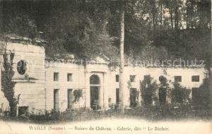 AK / Ansichtskarte Wailly_Conty Ruines du Chateau