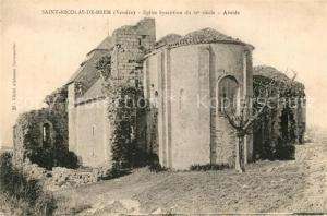 AK / Ansichtskarte Brem sur Mer Eglise Abside Brem sur Mer