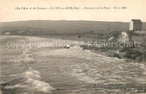 AK / Ansichtskarte Saint Cyr sur Mer Panorama de la Plage  Saint Cyr sur Mer