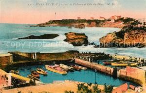 AK / Ansichtskarte Biarritz_Pyrenees_Atlantiques Port de Pecheurs et Cote du Phare Biarritz_Pyrenees