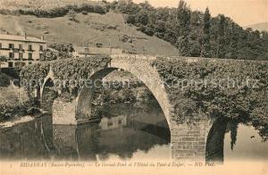 AK / Ansichtskarte Bidarray Le Grand Pont et l'Hotel du Pont d Enfer Bidarray