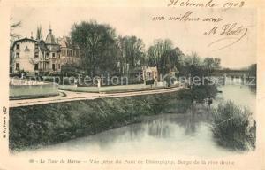 AK / Ansichtskarte Champigny sur Marne Le Tour de Marne Vue prise du Pont de Champigny Berge de la rive droite Champigny sur Marne