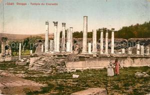 AK / Ansichtskarte Dougga Temple du Coelestis Ruinen Dougga