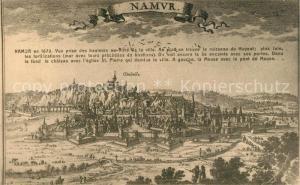 AK / Ansichtskarte Namur_sur_Meuse Panorama Gesamtansicht Kuenstlerkarte Namur_sur_Meuse