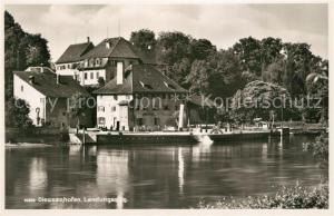 AK / Ansichtskarte Diessenhofen Uferpartie am Rhein Landungssteg Diessenhofen