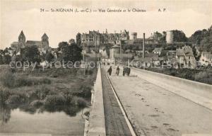 AK / Ansichtskarte Saint Aignan_Loir et Cher Ponet et Chateau Saint Aignan Loir et Cher
