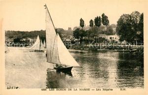 AK / Ansichtskarte Seine et Marne Les Bords de la Marne Les Regates Seine et Marne