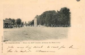 AK / Ansichtskarte Marmande Place du XIV Juillet Avenue du Pont Marmande