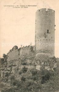AK / Ansichtskarte Gavaudun Chateau de Gavaudun Le Donjon Gavaudun