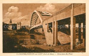 AK / Ansichtskarte Castelmoron sur Lot Structure du Pont Castelmoron sur Lot