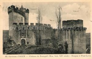 AK / Ansichtskarte Agen_Lot_et_Garonne Chateau de Bonaguil Donjon et Pont Levis Agen_Lot_et_Garonne
