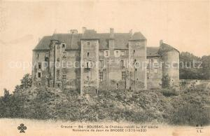 AK / Ansichtskarte Boussac_Creuse Chateau rebati Naissance de Jean de Brosse Boussac Creuse