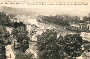 AK / Ansichtskarte Bellevue_Meudon Vue generale de la Seine Au loin Saint Cloud et le Fort du Mont Valerien Bellevue_Meudon