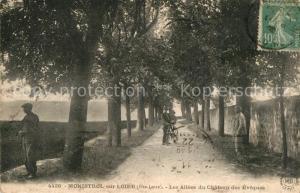 AK / Ansichtskarte Monistrol sur Loire Les Allees du Chateau des Eveques Monistrol sur Loire