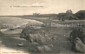 AK / Ansichtskarte Tharon Plage La plage et la cote Tharon Plage