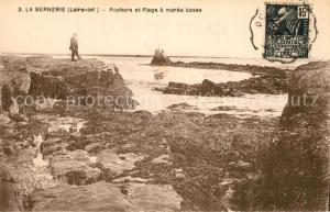 AK / Ansichtskarte La_Bernerie en Retz Rochers et plage a maree basse La_Bernerie en Retz