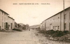 AK / Ansichtskarte Saint Maurice aux Forges Grande Rue Saint Maurice aux Forges