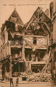 AK / Ansichtskarte Arras_Pas de Calais Angle des rues Pasteur et St Nicolas Arras_Pas de Calais