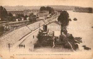 AK / Ansichtskarte Villeneuve le Roi La Gare et Vue sur Villeneuve Saint Georges Villeneuve le Roi