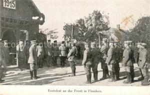AK / Ansichtskarte Militaria_WK1 Erntefest an der Front in Flandern Militaria WK1