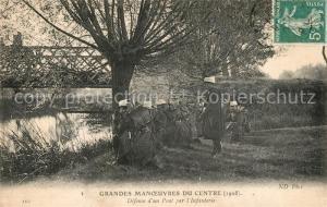 AK / Ansichtskarte Militaria_Frankreich Defense d un Pont par l infanterie Militaria Frankreich