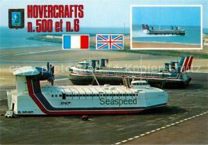 AK / Ansichtskarte Flugwesen Hovercrafts Aeroglisseurs N500 N6 Luftkissenfahrzeug