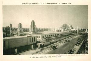AK / Ansichtskarte Exposition_Coloniale_Internationale_Paris_1931 Cite Internationale des Informations