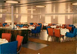 AK / Ansichtskarte Schiffe_Ships_Navires MS Sassnirt Mitropa Nichtrauchersalon