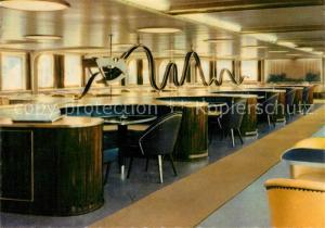 AK / Ansichtskarte Schiffe_Ships_Navires MS Sassnitz Mitropa Rauchersalon