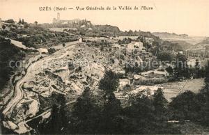AK / Ansichtskarte Uzes Vue generale de la Vallee de l Eure Uzes