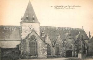 AK / Ansichtskarte Rochefort en Terre Eglise et le vieux Calvaire Rochefort en Terre