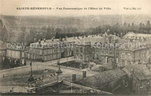 AK / Ansichtskarte Sainte Menehould Vue panoramique de l Hotel de Ville Sainte Menehould