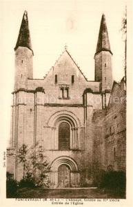 AK / Ansichtskarte Fontevraud l_Abbaye Abbaye Entree de l eglise XIe siecle Fontevraud l Abbaye