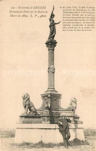 AK / Ansichtskarte Angers Monument sur la Roche de Murs en 1889 Angers