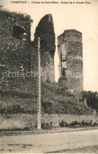 AK / Ansichtskarte Champtoce sur Loire Chateau de Barbe Bleue Ruines de la Grande Tour Champtoce sur Loire