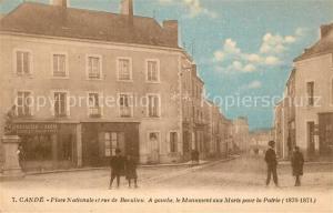 AK / Ansichtskarte Cande Place Nationale Rue de Beculieu Monument aux Morts pour la Patrie Cande