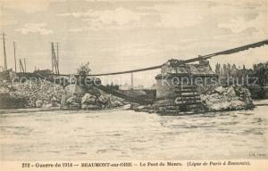 AK / Ansichtskarte Beaumont sur Oise Guerre de 1914 Le Pont de Mours Beaumont sur Oise