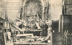 AK / Ansichtskarte Barcy Grande Guerre 1914 Bataille de la Marne Interieur de l'Eglise de Barcy Barcy