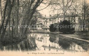 AK / Ansichtskarte Claye Souilly La Mairie et le Parc Claye Souilly