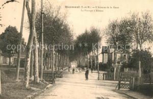 AK / Ansichtskarte Mormant Avenue de la Gare Le Passage a Niveau Mormant