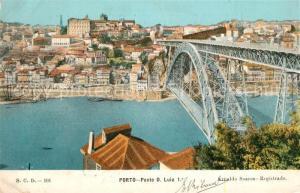 AK / Ansichtskarte Porto_Portugal Ponte D Luiz 1 Porto Portugal