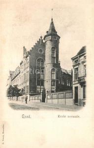 AK / Ansichtskarte Gand_Belgien Ecole normale Gand Belgien